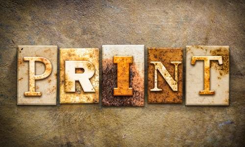 Print is not dead - 5 reasons